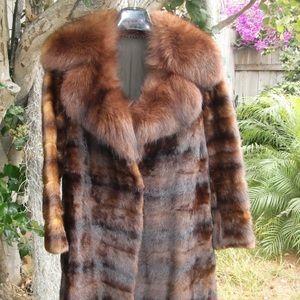 Jackets & Blazers - Brown Mink Fur Coat / Real Fur /